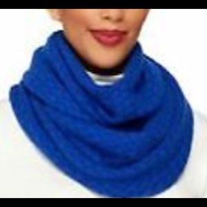 Issac Mizrahi Blue Cashmere Infinitely Scarf